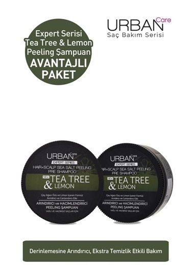 Urban Care Urban Care Tea Tree Lemon Peeling Şampuan 2X200 Ml Renksiz